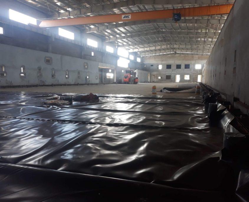 Nilon lót sàn bê tông –  Màng HDPE lót sàn HDPE 3 LỚP 20
