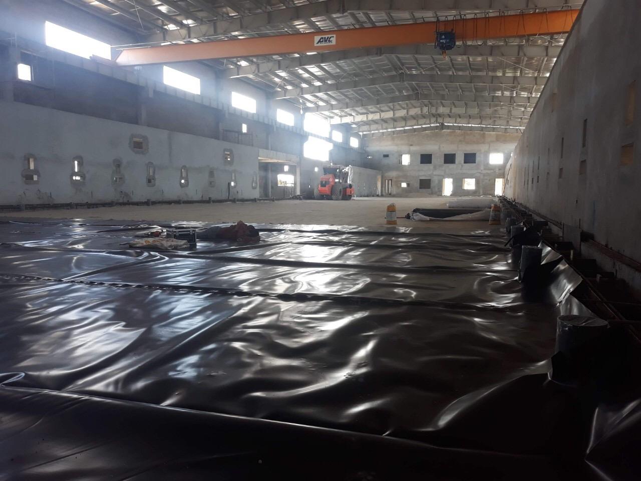 Nilon lót sàn bê tông –  Màng HDPE lót sàn HDPE 3 LỚP 13